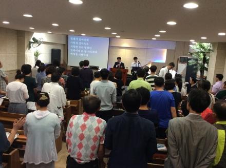 Pr. John John em culto na Coreia do Sul